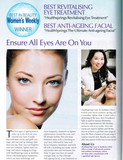 Singapore Women's Weekly - Best Revitalising Eye Treatment and Best Anti-Ageing Facial