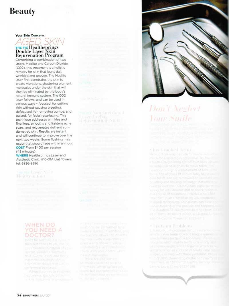 Press Media - Simply Her Magazine (July 2011 issue)