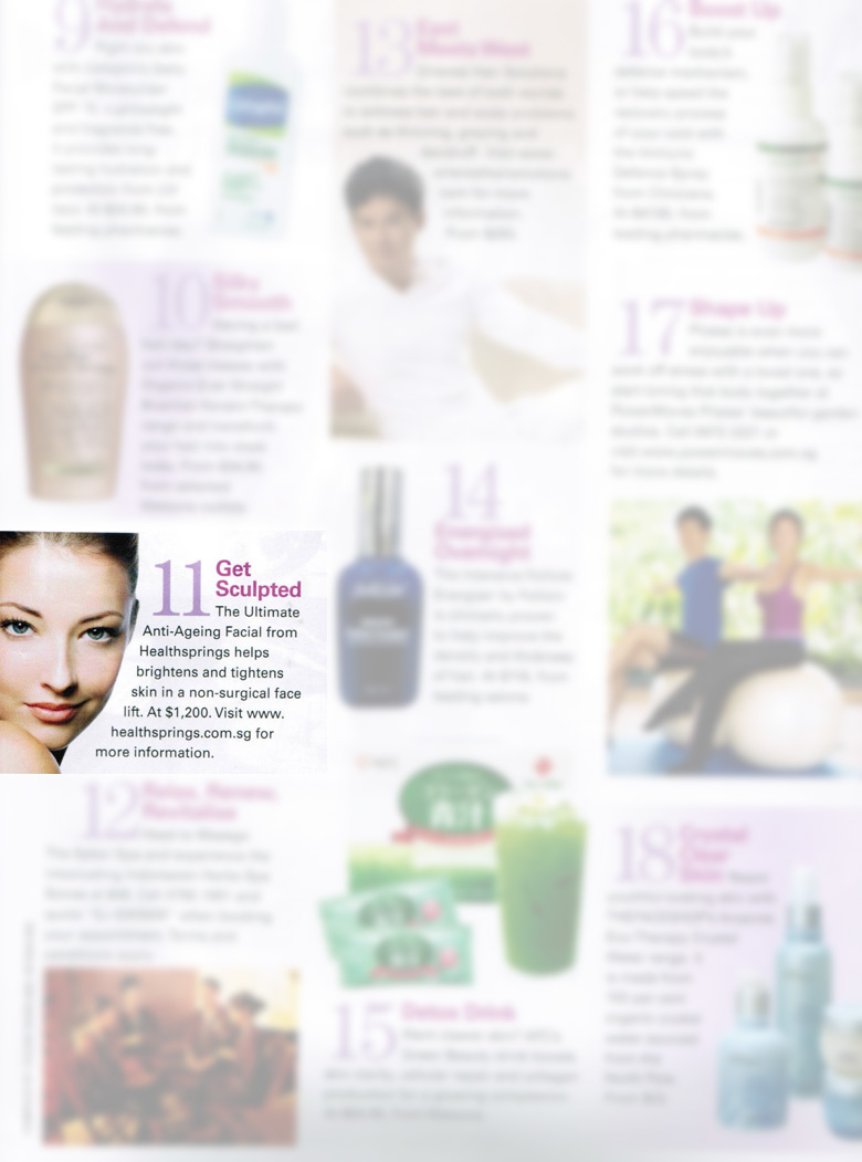 Press Media - Singapore Women's Weekly Magazine (August 2012 Issue)